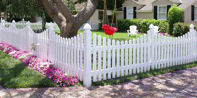 Vinyl Picket Fence Irvine CA